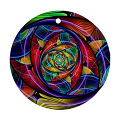 Eye Of The Rainbow Ornament (round) by WolfepawFractals