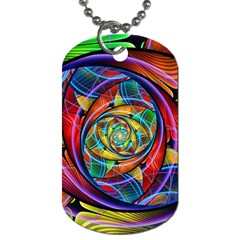 Eye Of The Rainbow Dog Tag (two Sides) by WolfepawFractals