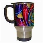 Eye of the Rainbow Travel Mugs (White) Left