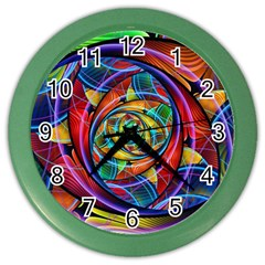 Eye Of The Rainbow Color Wall Clocks by WolfepawFractals