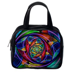 Eye Of The Rainbow Classic Handbags (one Side) by WolfepawFractals