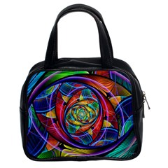 Eye Of The Rainbow Classic Handbags (2 Sides) by WolfepawFractals