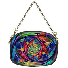 Eye Of The Rainbow Chain Purses (one Side)  by WolfepawFractals