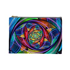 Eye Of The Rainbow Cosmetic Bag (large)  by WolfepawFractals