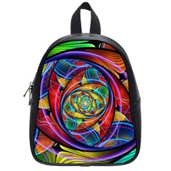 Eye Of The Rainbow School Bags (small)  by WolfepawFractals