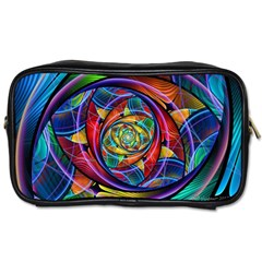Eye Of The Rainbow Toiletries Bags by WolfepawFractals