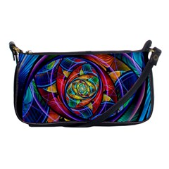 Eye Of The Rainbow Shoulder Clutch Bags by WolfepawFractals