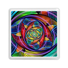 Eye Of The Rainbow Memory Card Reader (square)  by WolfepawFractals