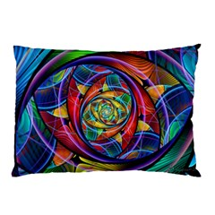 Eye Of The Rainbow Pillow Case (two Sides) by WolfepawFractals