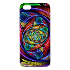 Eye Of The Rainbow Apple Iphone 5 Premium Hardshell Case by WolfepawFractals
