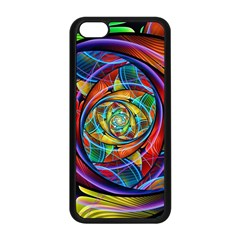 Eye Of The Rainbow Apple Iphone 5c Seamless Case (black) by WolfepawFractals