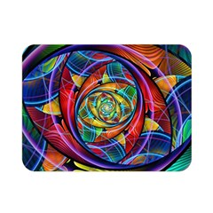 Eye Of The Rainbow Double Sided Flano Blanket (mini)  by WolfepawFractals