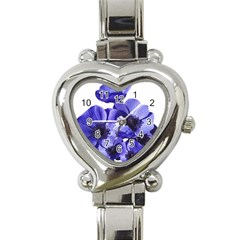 Poppy Blossom Bloom Summer Heart Italian Charm Watch by Nexatart