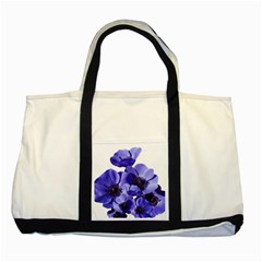 Poppy Blossom Bloom Summer Two Tone Tote Bag