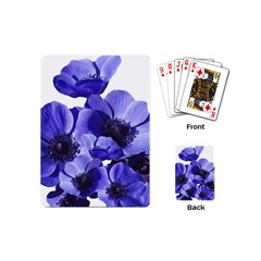 Poppy Blossom Bloom Summer Playing Cards (mini)  by Nexatart