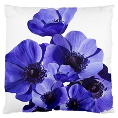 Poppy Blossom Bloom Summer Large Flano Cushion Case (two Sides) by Nexatart