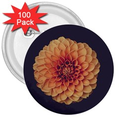 Art Beautiful Bloom Blossom Bright 3  Buttons (100 Pack)  by Nexatart
