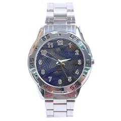 Textures Sea Blue Water Ocean Stainless Steel Analogue Watch by Nexatart