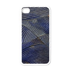 Textures Sea Blue Water Ocean Apple Iphone 4 Case (white) by Nexatart