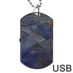 Textures Sea Blue Water Ocean Dog Tag Usb Flash (two Sides) by Nexatart