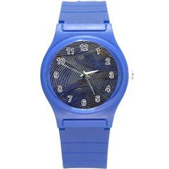 Textures Sea Blue Water Ocean Round Plastic Sport Watch (s) by Nexatart