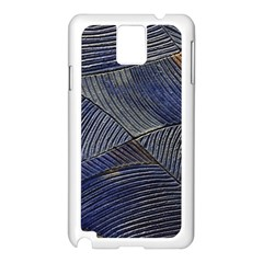 Textures Sea Blue Water Ocean Samsung Galaxy Note 3 N9005 Case (white) by Nexatart