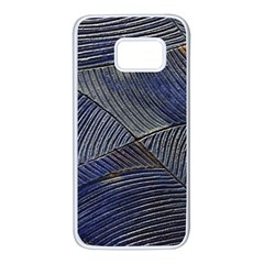 Textures Sea Blue Water Ocean Samsung Galaxy S7 White Seamless Case by Nexatart