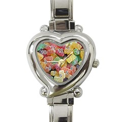 Jelly Beans Candy Sour Sweet Heart Italian Charm Watch by Nexatart