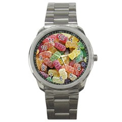Jelly Beans Candy Sour Sweet Sport Metal Watch by Nexatart