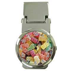 Jelly Beans Candy Sour Sweet Money Clip Watches by Nexatart