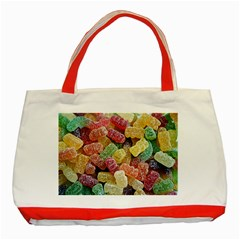 Jelly Beans Candy Sour Sweet Classic Tote Bag (red)