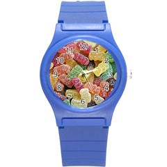 Jelly Beans Candy Sour Sweet Round Plastic Sport Watch (s) by Nexatart