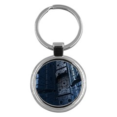 Graphic Design Background Key Chains (round)  by Nexatart
