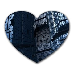 Graphic Design Background Heart Mousepads by Nexatart
