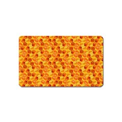 Honeycomb Pattern Honey Background Magnet (name Card) by Nexatart