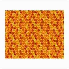 Honeycomb Pattern Honey Background Small Glasses Cloth (2 Side) by Nexatart