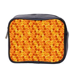 Honeycomb Pattern Honey Background Mini Toiletries Bag 2 Side
