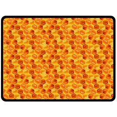 Honeycomb Pattern Honey Background Fleece Blanket (large)  by Nexatart