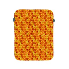 Honeycomb Pattern Honey Background Apple Ipad 2/3/4 Protective Soft Cases by Nexatart