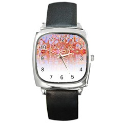 Effect Isolated Graphic Square Metal Watch by Nexatart