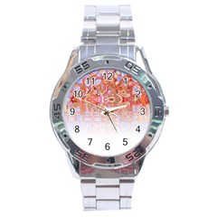 Effect Isolated Graphic Stainless Steel Analogue Watch by Nexatart