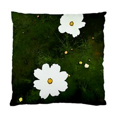 Daisies In Green Standard Cushion Case (one Side)