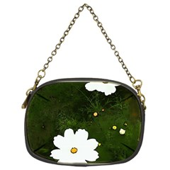 Daisies In Green Chain Purses (two Sides)