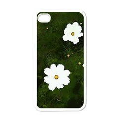 Daisies In Green Apple Iphone 4 Case (white)