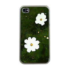 Daisies In Green Apple Iphone 4 Case (clear)