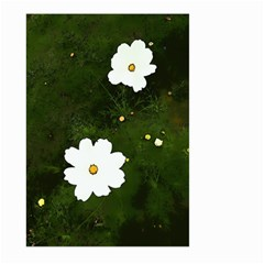 Daisies In Green Large Garden Flag (two Sides)