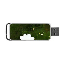 Daisies In Green Portable Usb Flash (two Sides)