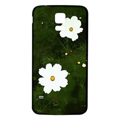 Daisies In Green Samsung Galaxy S5 Back Case (white) by DeneWestUK