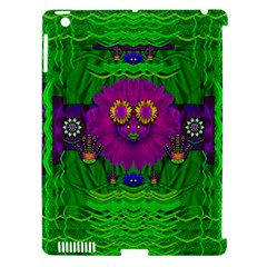 Summer Flower Girl With Pandas Dancing In The Green Apple Ipad 3/4 Hardshell Case (compatible With Smart Cover)