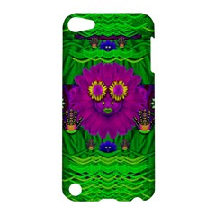 Summer Flower Girl With Pandas Dancing In The Green Apple Ipod Touch 5 Hardshell Case by pepitasart